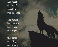 """"""" How the moon calls her beast. Her animal spirit. She was like the lone wolf who lost her home and found a new one yet the wild called her spirit. I am that wolf with a spirit that will forever crave to soar! True Quotes, Great Quotes, Inspirational Quotes, Motivational, Quotes Quotes, Wolf Spirit, Spirit Animal, Animal Spirit Guides, Phrase Cute"""