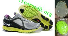 Mens Nike Lunar Eclipse Gray Black Green Shoes