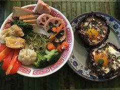 Stuffed Portobello Mushrooms with Eggs and Thyme