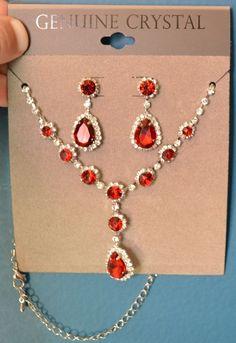 Crystal Necklace Light Siam Genuine Crystal Necklace #Unbranded