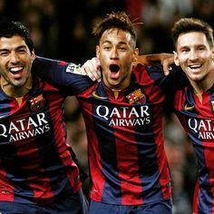 repost via @instarepost20 from @fcbarcelona Barça's three forwards, the team's intensity, and the fans were among the biggest keys to the victory  Els tres davanters, la intensitat i el suport de l'afició són les claus de la gran victòria contra els 'matalassers'  Los tres delanteros, la intensidad y el apoyo de la afición son las claves de la gran victoria contra los 'colchoneros'  #FCBAtleti @luissuarez9 @neymarjr @leomessi @fcbarcelona#instarepost20