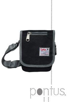 Bolsa tiracolo Lois 14x19x5cm preta ref.2501401 | JB