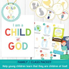 Primary 1 Lesson 1 (Sunbeams): I am a Child of God lesson helps