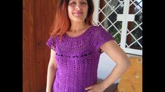 CROCHET TOP DOWN BLOUSE SWEATER tutorial all sizes  also as winter sweat...