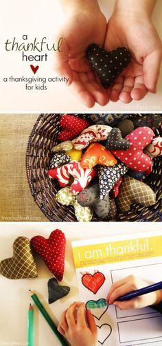 """Love this """"thankful heart"""" Thanksgiving activity for kids! Includes a free printable to foster gratitude."""