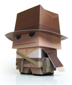 Indiana Jones free downloadable paper craft.