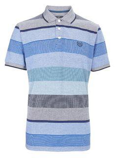 Purple Birdseye Striped Polo Shirt