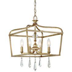 Laurel Estate Brio Gold Four Light 15 Inch Pendant Minka Lavery Lantern Pendant Lighting C