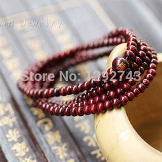 Classic High-quality Red Sandalwood 216 Buddha Beads Jewelry