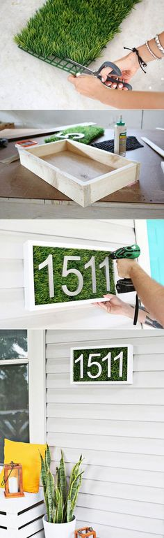 Living house number box helps you to brighten up your porch for spring