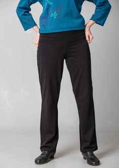 Solid-colored jersey pants in eco-cotton/spandex – Barbro – GUDRUN SJÖDÉN – Webshop, mail order and boutiques | Colorful clothes and home textiles in natural materials.