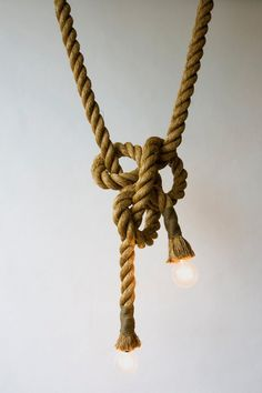 Ropes and knots give me that wonderful sailing feel--to have both in the formation of a light source? Brilliant!