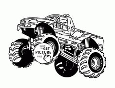 Bigfoot Monster Truck Jumps Coloring Page For Kids Transportation Pages Printables Free