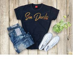 Sun Devils svg Game Day svg Football svg Sun Devils Cheer | Etsy Silhouette Studio, Silhouette Cameo, Amazon Merch, Create T Shirt, Studio Software, Cutting Files, Devil, Must Haves, Sassy