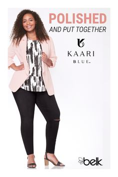 Create the perfect wardrobe with curvy fashion in your fit and style. Whether you're looking for the best jeans or dresses for curvy women, Kaari Blue™ has many stylish options for any woman looking for polished, put together pieces for work or play. Shop curvy fashion in store and online at Belk.com.