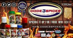 Want to stock up for 4th of July weekend with Code 3 Spices Award-Winning Specialty Products??? . SAVE  10% on ALL online orders with Discount  CODE: America10 Happy Grilling #code3nation  . You've tried the Rest now try the Best! We are www.code3spices.com!!! - We donate portions of every sale to First Responder and Military Organizations. Thank you for spicing it up for those who serve with www.code3spices.com -  No Msg - No Gluten - No High Fructose Corn Syrup - Order Right Now At…