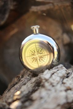 5OZ CANTEEN FLASK COMPASS - Junk GYpSy co.