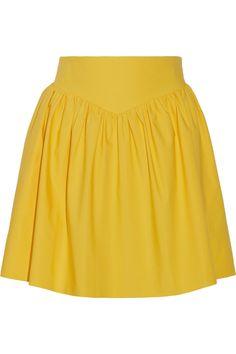 MOSCHINO Ruched Cotton Mini Skirt. #moschino #cloth #skirt