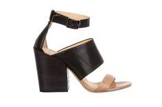 black/nude leather sandal - fiorifrancesi