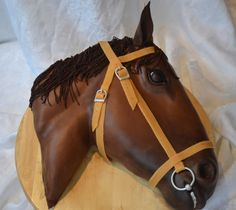 Horse Cake for a cowboy, cowgirl or western theme. - I would have loved to have a cake like this when I was a kid! So awesome!