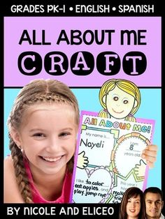 This downloads in English plus a FREE Spanish version. It has a fun craft to use with your back to school unit or all about me lessons. It includes a craft guide, printable all about me writing templates, 8 girl heads and 8 boy heads to choose from. I designed this all about me activity to help my students introduce themselves and get to know each other better in a fun, interactive way.