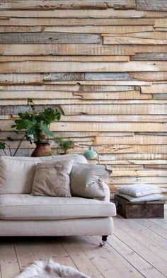 Wandgestaltung Mit Holz Altholz Effekt Wohnzimmer Wand M Haus | Wanddesign  | Pinterest | Searching