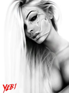 artist yeb by artistyeb Chicanas Tattoo, Clown Tattoo, Cholo Art, Chicano Art, Day Of Dead Tattoo, Aztecas Art, Hirsch Tattoo, Catrina Tattoo, Sugar Skull Girl