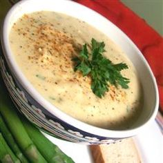#recipes Cream of Crab (or She-Crab) Soup...  use ONLY 1 table spoon of the Old Bay seasoning!!!