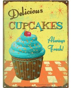 Cupcakes: Deliciously Retro - read & discuss:  http://www.retroplanet.com/blog/retro-food-and-recipes/retro-cupcakes