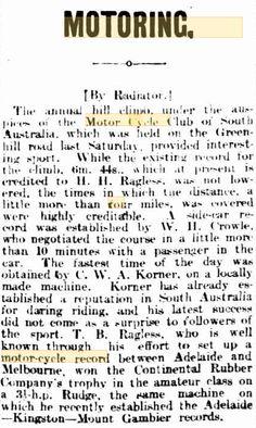1912 Rova Kent 3.5 h.p. four-valve Australia