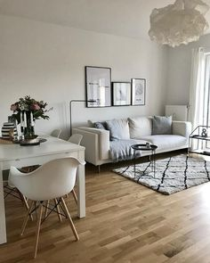 51 Brilliant Solution Small Apartment Living Room Decor Ideas and Remodel Dining Room Decor small living dining room combo decorating ideas Small Apartment Design, Small Apartment Living, Small Room Design, Small Apartment Decorating, Small Living Dining, Small Apartments, Dining Living Room Combo, Small Living Room Designs, Living Room Carpet