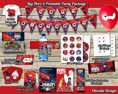 Big Hero 6 Birthday Party Package Printable by OlivettaDesign