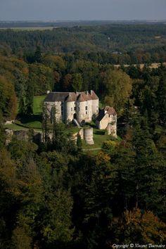 Photo aérienne de Château d'Harcourt - Eure (27) - Bernay - Normandie