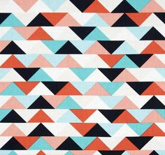 Geometric Baby Bedding - Fitted Crib Sheets / Triangles Baby Sheet / Toddler…