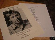 John Denver Memorial Program