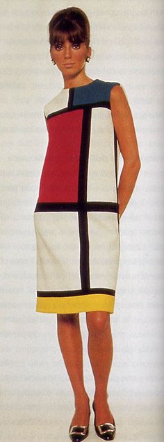 Mondrian, Yves Saint Laurent. This dress is famous because of its lines and was designed by Yves Saint Laurent. It has become widely famous throughout the years.
