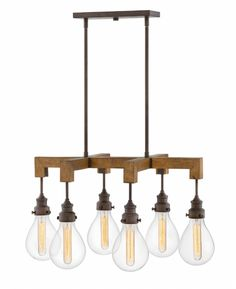 Hinkley Lighting carries many Industrial Iron Denton Interior Hanging light fixtures that can be used to enhance the appearance and lighting of any home.