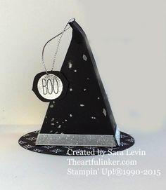 Cutie Pie Thinlits Witch Hat favor from theartfulinker.com