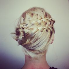 double waterfall updo