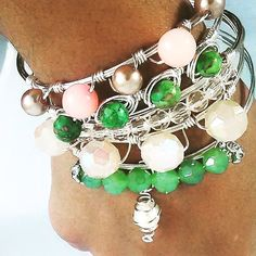 MISSY SET - available at IcedropzAccessories.com wire bangle wire bracelets