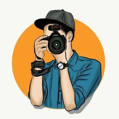 Baby Cartoon Drawing, Cute Cartoon Boy, Cute Cartoon Pictures, Cute Love Cartoons, Best Photography Logo, Boy Photography Poses, Camera Cartoon, Camera Illustration, Cartoon Wallpaper Hd