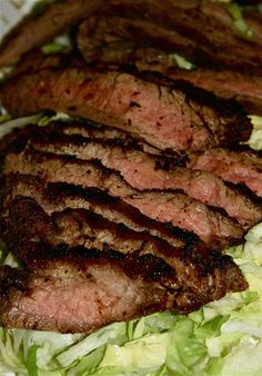 "Tri-Tip or Flank Steak marinade  Ingredients:  1 cup soy sauce (she likes to use the ""less sodium"" one, I used tamari)  1/2 cup sesame oil  1/4 cup chopped green onions (about 2 or three, depending on size, both the white and green part)  1/4 cup sugar  6 cloves garlic, minced  2 tsp sesame seeds  1/2 tsp dry mustard  1/2 tsp ground pepper  1/2 tsp white vinegar"