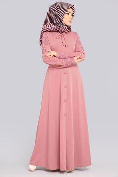 Abaya Fashion, Skirt Fashion, Fashion Dresses, Islamic Fashion, Muslim Fashion, Bridal Hijab Styles, Estilo Abaya, Asian Style Dress, Hijab Dress Party