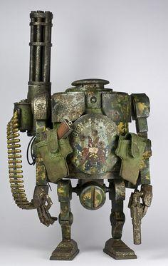 GUNSLINGER | meet THE GUNSLINGER ! ! this is a custom WWRp B… | Flickr Robot Design, Design Art, Steampunk Mechanic, Star Wars Toys, Toys Photography, Minis, Diesel, Fun, Tech