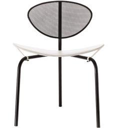 Mategot Nagasaki Chair Designer: Mathieu Mategot Manufactured: Gubi Dimensions (in): 21.3 w | 19.7 d | 29.1 h | seat: 17.7 h The famous Mategot Nagasaki Chair is made in perforated powder-coated steel