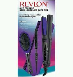Revlon Ceramic Hair Straightener Gift Set Purple 4 pc Brush Flat Iron Teasing  in Health & Beauty, Hair Care & Styling, Curling & Straightening Irons | eBay