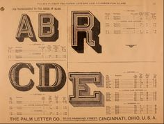 Full Vintage Catalog From The Palm Letter Company Cincinnati