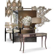 Discover KOKET latest trends! Dyi, Décor Boho, Desk Setup, Living Furniture, Home Decor Trends, Wall Sconce Lighting, Modern Interior Design, Luxury Living, Light Decorations