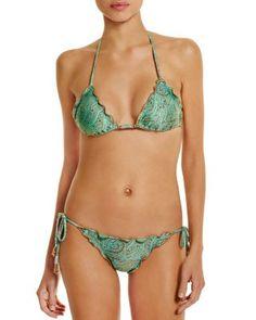 ViX Indian Ripple Triangle Bikini Top & Indian Ripple Tie Bikini Bottom | Bloomingdale's
