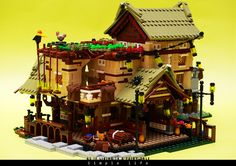 i used to wonder what it feel like to live in a fantasy world. Lego Architecture, Japanese Architecture, Lego Building Blocks, Lego Modular, Lego Castle, Cool Lego Creations, Lego Worlds, Lego Projects, Custom Lego
